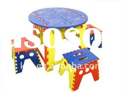 plastic colorful folding tables and chairs set