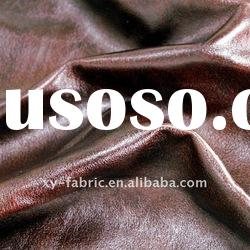 polyester bronzed suede fabric/artificial leather for sofa
