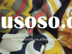 printed pure silk knitted fabric/silk double jersey fabric for sweater