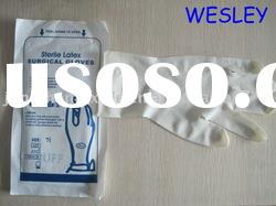 sterile latex surgical gloves/disposable gloves/operation use gloves