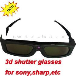 universal cheap 3d active shutter glasses for compatible with sharp samsung 3D HD TVs
