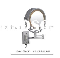 wall mounted make up mirror with light hsy2008