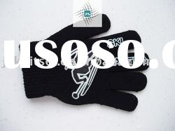 winter acrylic knitted magic gloves