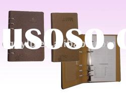 2010 leather cover ring binder notebook