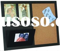 2011 the latest style cork and photo frame wooden memo board
