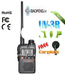 BAOFENG newest version vhf uhf handheld transceiver UV-3R with FCC,CE,RoHs approval