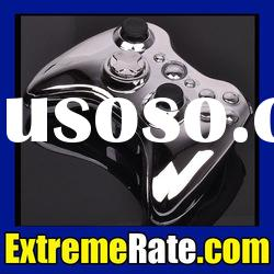 Full Set of Chrome Silver Replacement Shell For Xbox 360 Controller Housing