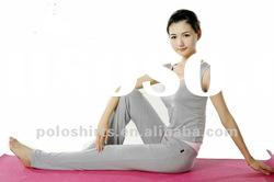 Ladies' organic bamboo yoga wear sets
