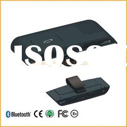 hot sale bluetooth handsfree car kit for iphone with TTS and full duplex system sun visor