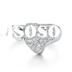 wholesale fashion jewelry diamond wedding silver ring R087
