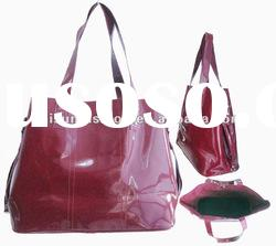 2012 pink patent PU leather handbags ladies bags