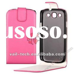 Pink Plain Pattern Design Leather Case For Samsung Galaxy S3 i9300