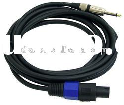Professional Speaker Cable Compatible With Speakon Connector to 1/4'' Male
