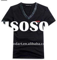 100 cotton black t shirt boys printed shirts plain t shirts for printingTT152