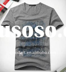 100 cotton gray t shirt boys printed shirts plain t shirts for printingTT145