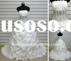 2012 Cheap Ball Gown Ruffle Real picture Wedding dress