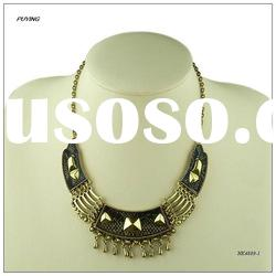2012 Fashion Imitation Snake Skin Cheap Metal Lady Necklace, Cheap Metal Jewellery