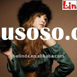 2012 Fashion lady black winter hat