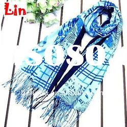 2012 fashion lady print long cotton scarf