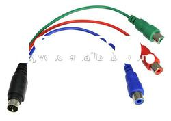 4Pin S-video Male to RCA Video Female Cable