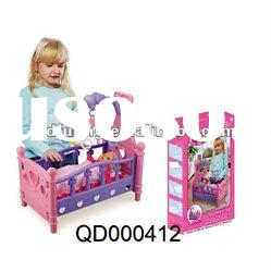 Baby Toy Vinyl Doll & Baby Bed , fashion doll