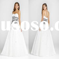 CY436 Hot Sale Beaded Strapless Pretty Prom Dresses
