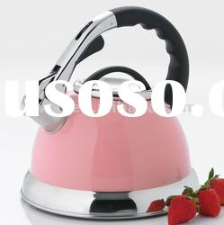 Camille 3.0 Qt. Stainless Steel Whistling Tea Kettle - Pink