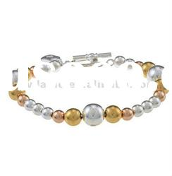 Costume jewelry/Fancy fashion silver and gold pearl lady's unique bracelet DH220569
