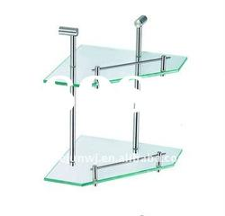 Double glass corner shelves,stainless steel ,sanitary ware accessories
