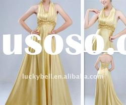 Exotic Hot sale Halter Real picture Wedding dresses