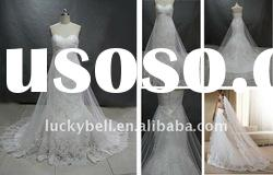 Exotic Hot sale Sleeveless Real picture Wedding dress