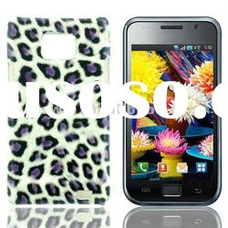 Factory price hot saling Leopard Designed Plastic hard skin case for Samsung Galaxy S2 i9100