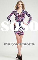 Fashion ladies lovely silk floral dress EP089