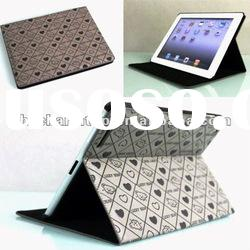 Gray Folio Stand Leather Case for iPad 2