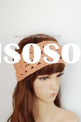H08A006D Handmade Crochet Elastic Hair Band Cotton Headband 3.1'