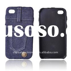 Hard Protective jeans case for iphone 4