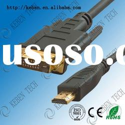 High speed data transfer hdmi to dvi cable