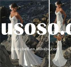 Hot sale Luxury Spaghetti Strap Beach Wedding dress