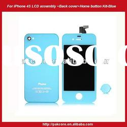 LCD assembly+Back cover+Home button kit For iPhone 4S-Pink