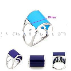 Latest Design White Gold Plated Copper Gemstone Rings with Agate Design 190851