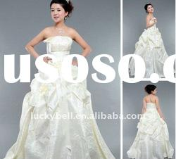 New style Hot sale Ball Gown Ruffle Wedding dress