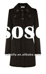 Newest ladies trendy designer coat/wool coat 2012