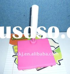 Novelty Mini Silicone Memo Pad with Reusable Pen