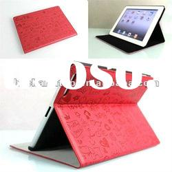 Red Lucky Bear Folio Stand Leather Case