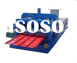 aluminum color steel tile roll forming machine