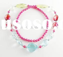 fashion jewelry crystal bead necklace