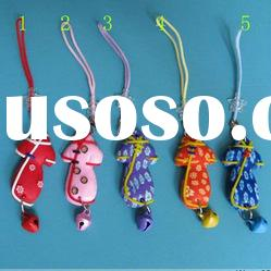 fashion mobile phone rope lovely chinese cheongsam cloth key chain chain accessories phone