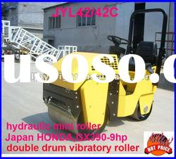 hydraulic mini road roller,ride-on double drum roller,Japan engine and bearing 9HP,CE certification