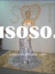 real products picture mermaid sweetheart off-shoulder shining stone evening dress