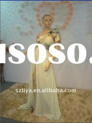 real products picture one flower strap chiffon evening dress